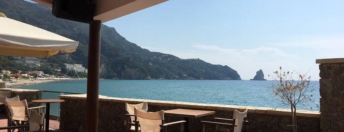 Black Rocks Seaside Restaurant is one of Corfu, Greece.