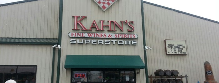Kahn's Fine Wine & Spirits is one of Tempat yang Disukai Jared.