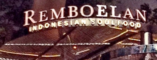 REMBOELAN Indonesian Soulfood is one of Fave Places To Hangout.