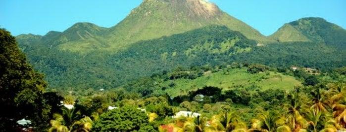 La Soufrière is one of Martinique & Guadeloupe.