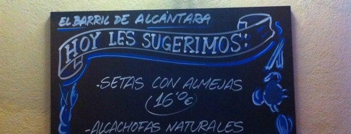 El Barril de Alcántara is one of Rotulados por rotulacionamano.com.