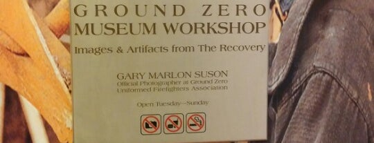 Ground Zero Museum Workshop is one of Gray Line New York's Downtown Loop.