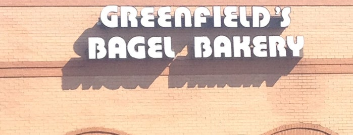 Greenfield's Bagels & Deli is one of Greensville,SC.