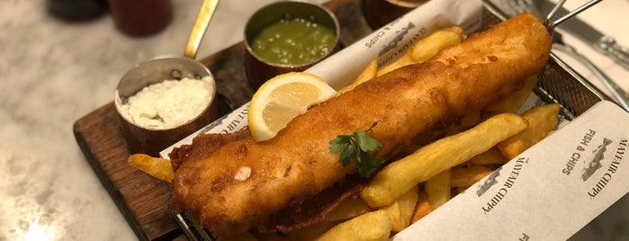 The Mayfair Chippy is one of London Food.