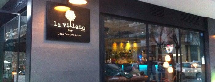 La villana bar is one of Madrid ♥ Bayswater Gin.