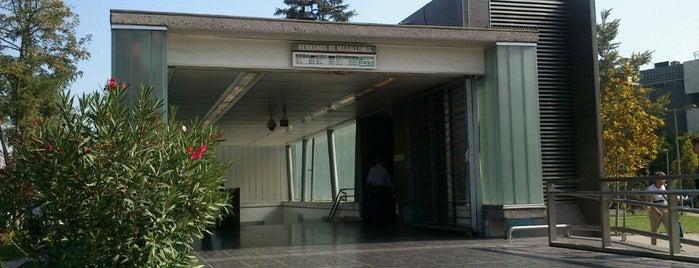 Metro Hernando de Magallanes is one of Linea 1 Metro de Santiago.