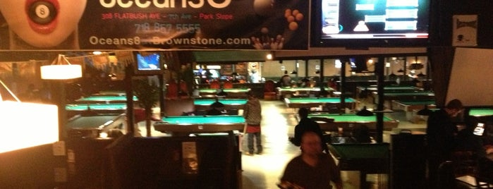 Oceans 8 at Brownstone Billiards is one of ping pong.