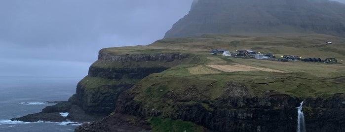 Múlafossur is one of Faroe Island.