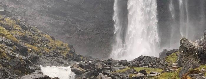 Fossá Waterfall is one of Faroe Island.