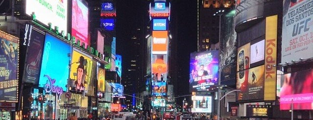 Times Square is one of To Fly For.