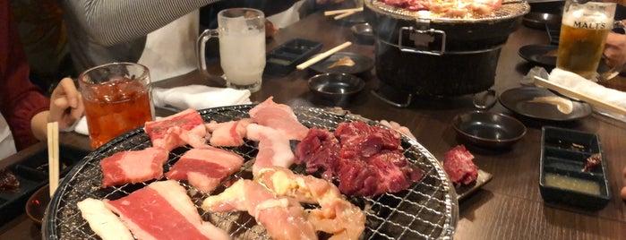 肉匠黒部 is one of Tempat yang Disukai 重田.