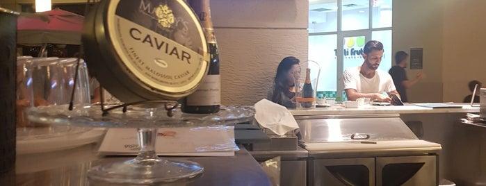 Beluga caviar bar is one of Miami.
