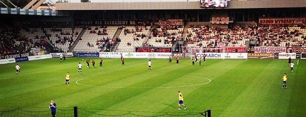 Stadion Cracovia is one of Orte, die Kate gefallen.
