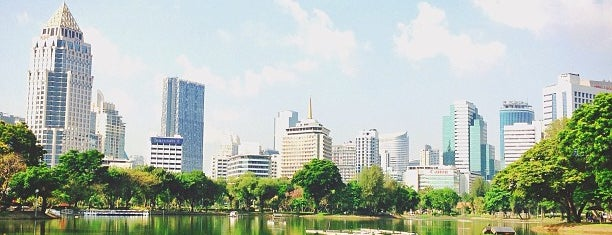 Lumphini Park is one of Bangkok.