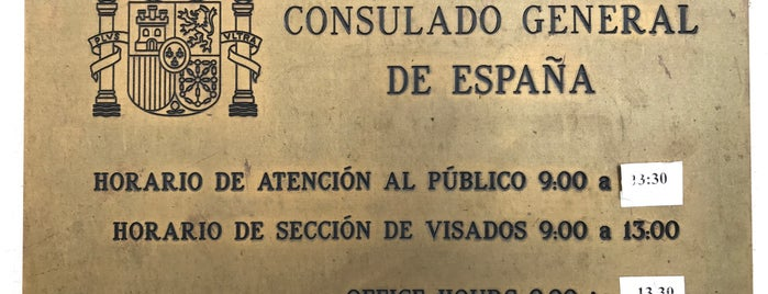 Consulate General of Spain is one of Bruce'nin Beğendiği Mekanlar.