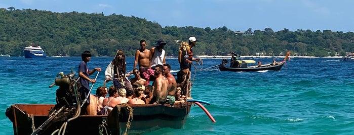Nui Bay is one of Phi Phi Island.