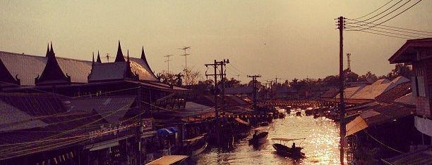 Amphawa Floating Market is one of Denis's Liked Places.