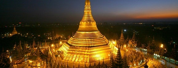 Shwedagon Pagoda is one of Yangon.