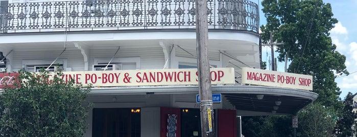 Magazine Po-boy & Sandwich Shop is one of สถานที่ที่ Christine ถูกใจ.