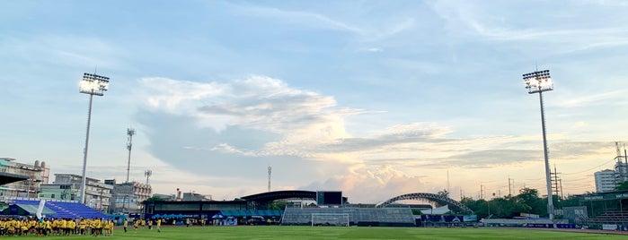 Samut Prakan SAT Stadium is one of Tempat yang Disimpan Chaimongkol.