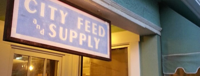 City Feed & Supply is one of Favorites.