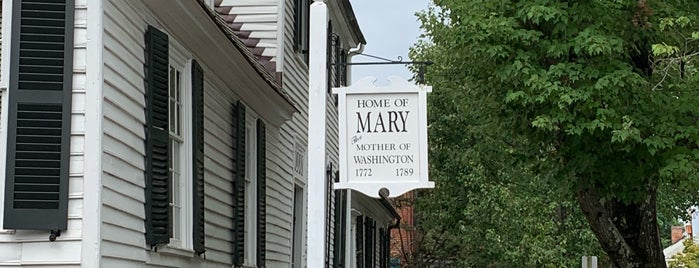 Mary Washington House is one of Virginia Jaunts.