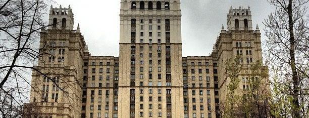 Шпиль высотки на Кудринской площади is one of Locais salvos de Irina.