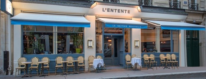 L'Entente, Le British Brasserie is one of Paris.