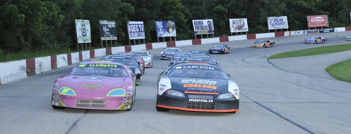 LaCrosse Fairgrounds Speedway is one of West Salem.