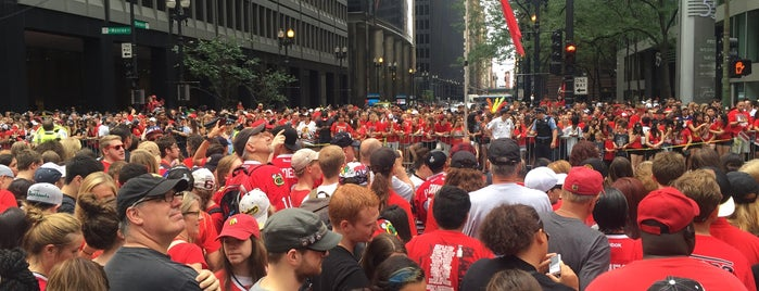 Chicago Blackhawks Stanley Cup Victory Parade 2015 is one of I been here.