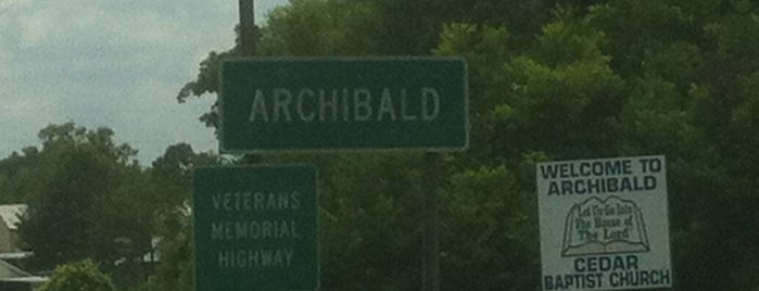 Archibald, LA is one of Cities I've Been To.