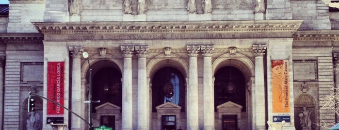 New York Public Library is one of For the out of towners.