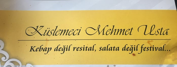 Küşlemeci Mehmet Usta is one of Gurme Ankara.