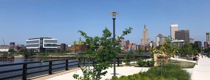 Providence River Pedestrian Bridge is one of Tempat yang Disukai Al.