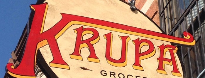Krupa Grocery is one of Burgers.