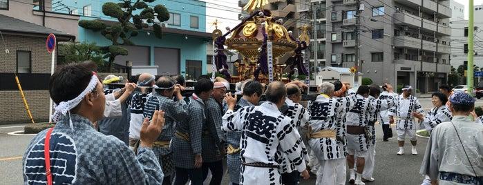 飯塚氷川神社 is one of 神輿で訪れた場所-1.