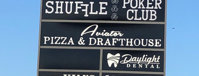 Aviator Pizza & Drafthouse is one of Tempat yang Disukai Christopher.