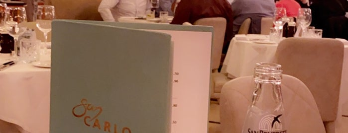 San Carlo is one of London to-dos.