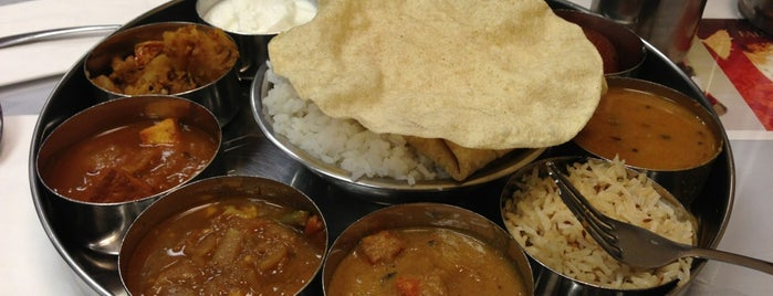 Madura Indian Vegetarian Cuisine is one of Places To Try in SF + The Peninsula.