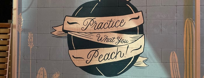 Bar Peached is one of Austin - CHECK!.