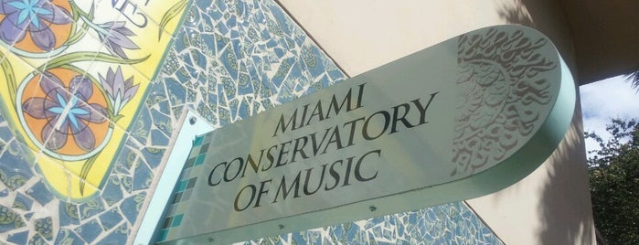 Miami Conservatory of Music is one of Miami: history, culture, and outdoors.
