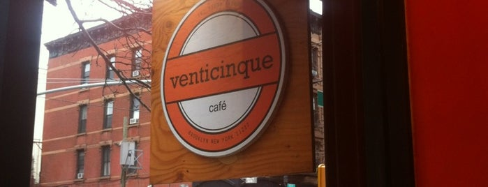 Venticinque is one of NYTimes Coffee List.
