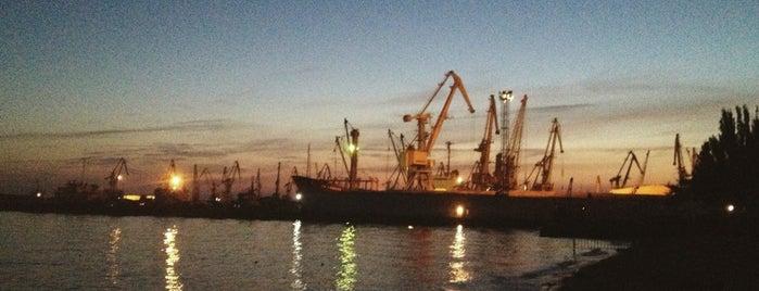 Бердянский морской порт is one of Лучший Бердянск - проект Berdyansk.Best.