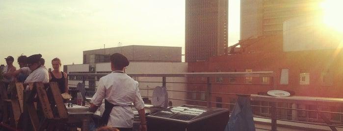 25hours rooftop terrace is one of Frankfurt.