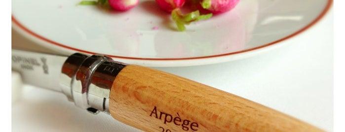 Arpège is one of World's 50 Best Restaurants 2014.