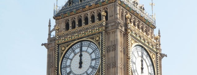 Elizabeth Tower (Big Ben) is one of London To Dos.