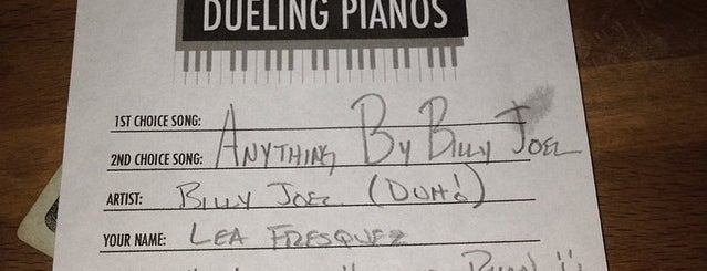Shake Rattle & Roll Dueling Pianos is one of Possible Bday Ideas.