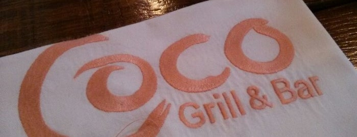 Coco Grill & Bar is one of Lugares favoritos de Carl.