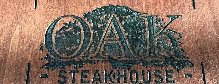 Oak Steakhouse is one of Atlanta Eats.
