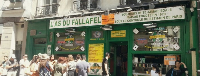 L'As du Fallafel is one of Paris restaurants.